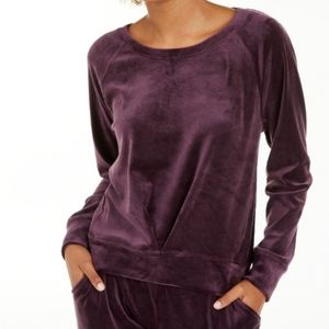 Ideology  Pleated Velour Sweatshirt